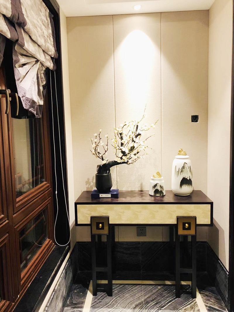 安徽芜湖古城新中式风样板房家具案例