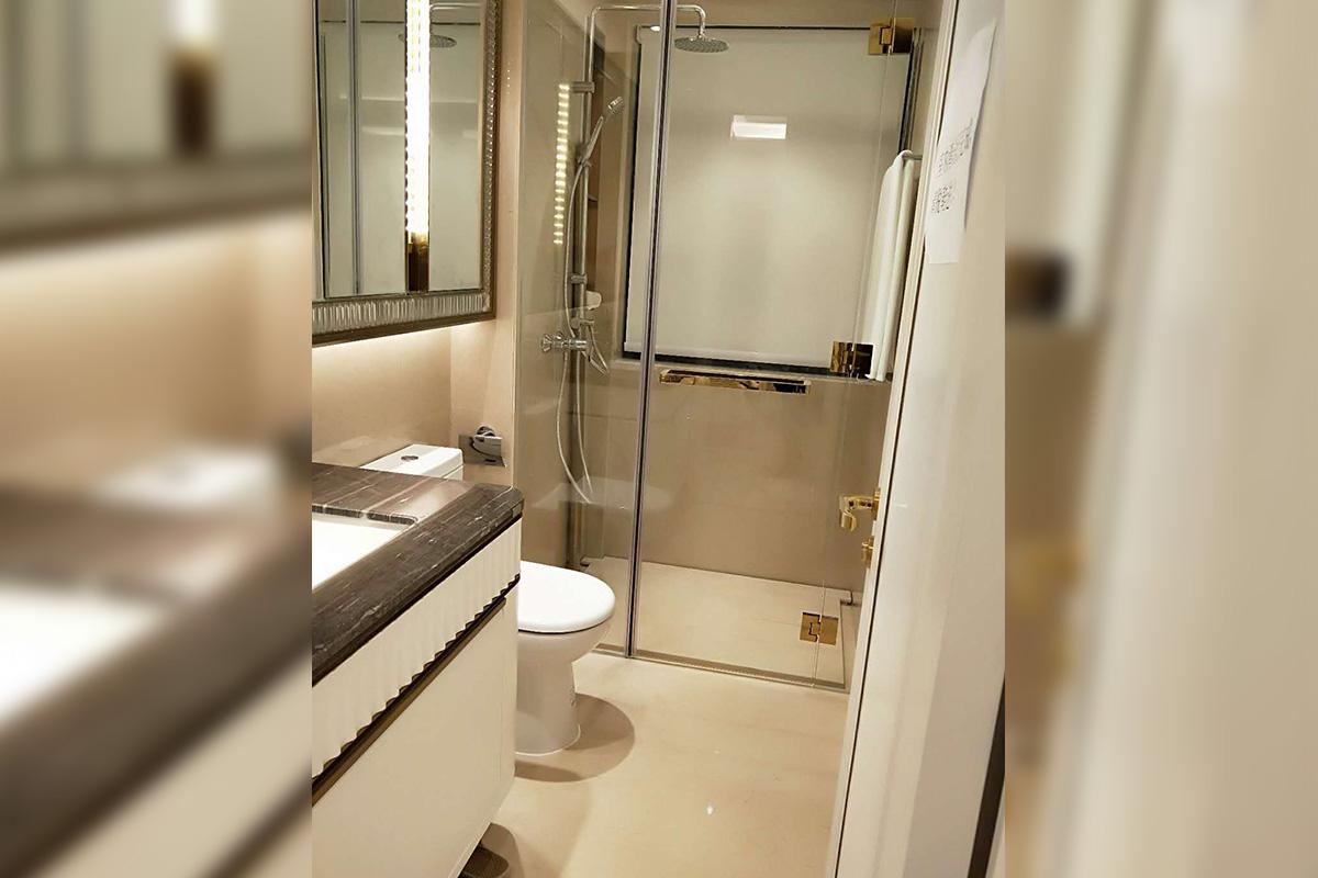 珠海崇峰一号现代高档轻奢样板间家具案例